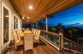 Deck with Sunset View Royalty Free Stock Photo