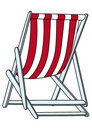 Deckchair (illustration) Stock Photo