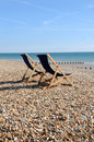 Deckchairs Royalty Free Stock Photos