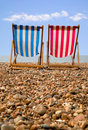 Deckchairs Stockbild