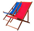 Deckchairs deux Photos stock