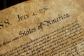 Declaration of Independence Stock Photos