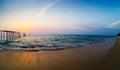 Decline on the seashore Royalty Free Stock Photo