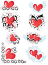 Decor with hearts, CMYK Stock Photos