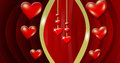 Decor hearts red lined background Stock Photos