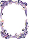 Decor oval frame Royalty Free Stock Photo