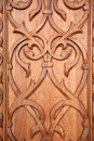 Decor of the wooden door Royalty Free Stock Photos