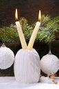 Decoração do white christmas Fotografia de Stock Royalty Free