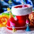 Decoración de las hadas de la navidad Foto de archivo