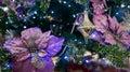 Decoraciones preciosas de la navidad Imagen de archivo