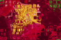 Decorated abstract glass plate Royalty Free Stock Photo