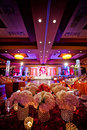 Decorated Ballroom for Indian Wedding Stock Image
