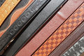 Decorated Belts Royalty Free Stock Images