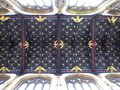 Decorated ceiling of historical church Royalty Free Stock Photo