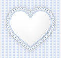 Decorated blue gray heart label illustration with dots Stock Images