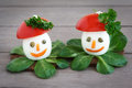Decorated boiled Eggs Stock Images