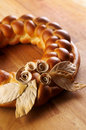 Decorated bread Royalty Free Stock Images