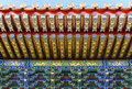 Decorated ceiling partial of chinese gothic style in the forbidden city beijing china Stock Photography