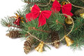 Decorated Christmas Fir Branch...