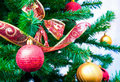 Decorated Christmas tree Stock Images