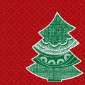 Decorated christmas tree pattern on pine with beautiful pattern background Royalty Free Stock Photo