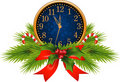 Decorated Clock (New Year's Eve) Royalty Free Stock Images