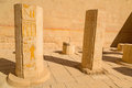 Decorated columns in the temple of queen hatshepsut egypt Stock Image