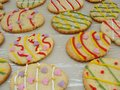 Decorated cookies made for easter Royalty Free Stock Photography