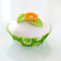 Decorated cupcake Stock Image