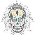 Decorated Day of the Dead Sugar Skull Royalty Free Stock Photography