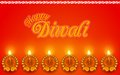 Decorated diya for diwali holiday illustration of Royalty Free Stock Images