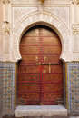 Decorated door in Morocco Stock Photography