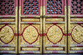 Decorated door the partial of chinese antique doors in the forbidden city beijing china Stock Photos