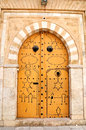 Decorated door in Tunis medina Royalty Free Stock Photos
