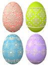 Decorated easter eggs d with different decorations Royalty Free Stock Photo