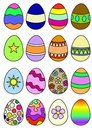 Decorated Eggs Stock Photo