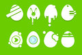 Decorated Eggs Set Icon Collection Easter Holiday Royalty Free Stock Photo