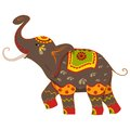 Decorated elephant vector illustration of Stock Photos