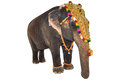 Decorated elephant with white background Royalty Free Stock Image