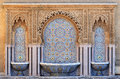 Decorated fountain with mosaic tiles in rabat morocco Royalty Free Stock Photo