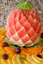 Decorated fruit table Royalty Free Stock Photography