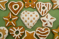 Decorated Gingerbread Cookies Stock Photos