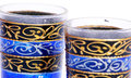 Decorated glasses detail of handmade Royalty Free Stock Image