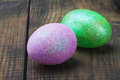 Decorated with glitter easter egg Stock Image