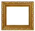 Decorated gold plated frame Stock Photo
