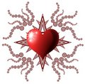 Decorated heart Royalty Free Stock Photo