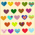 Decorated hearts, patterns Royalty Free Stock Image