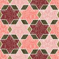 Decorated hexagon pattern seamless background design. EPS10 with transparency mode. Vector