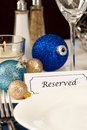 Decorated Holiday Table Setting Royalty Free Stock Images
