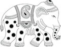 Decorated indian elephant Stock Images